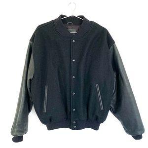 🔥Golden Bear Varsity Jacket Sz Large Wool Leather